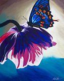 Original--Butterfly Landing