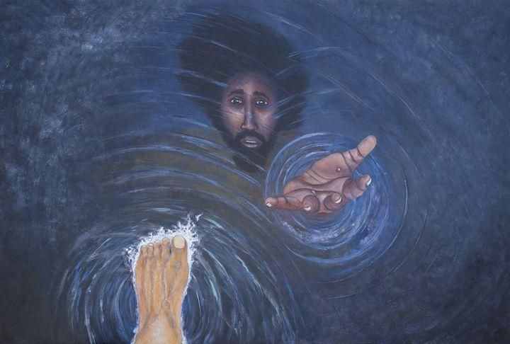 Peter reaching out - LaToya's creative art
