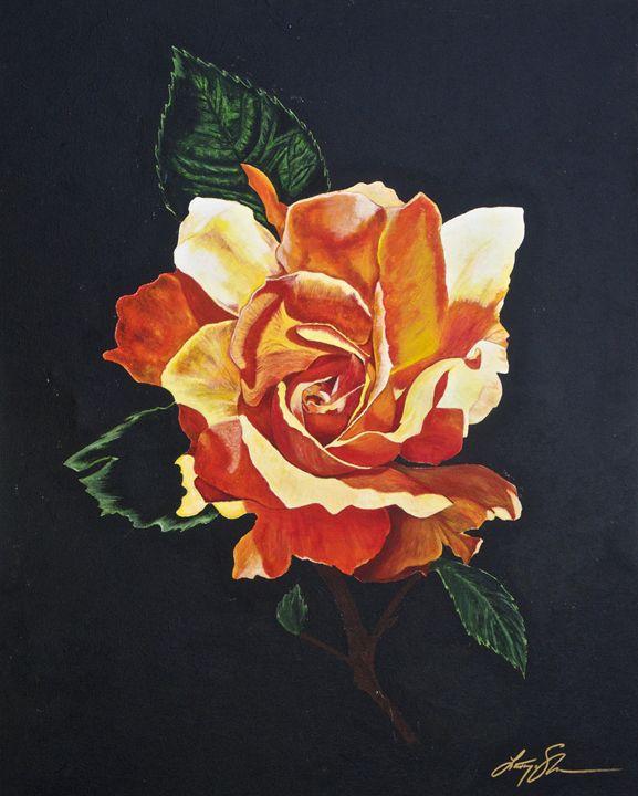 Lone Rose - LaToya's creative art
