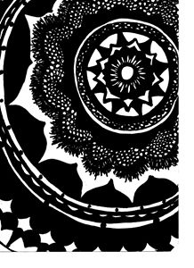 Mandala in Black and White