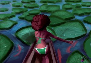 Boat ride on the lilly pond