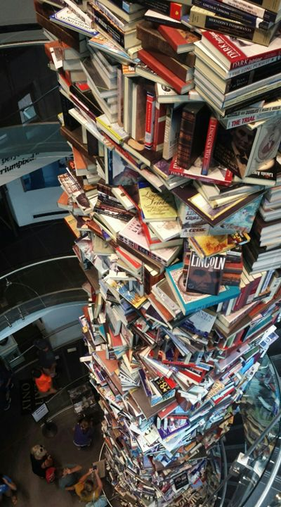 A tower of Books - Art by Rachel