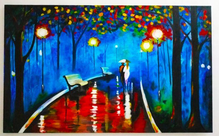 A walk in Rain - Kriyansh arts