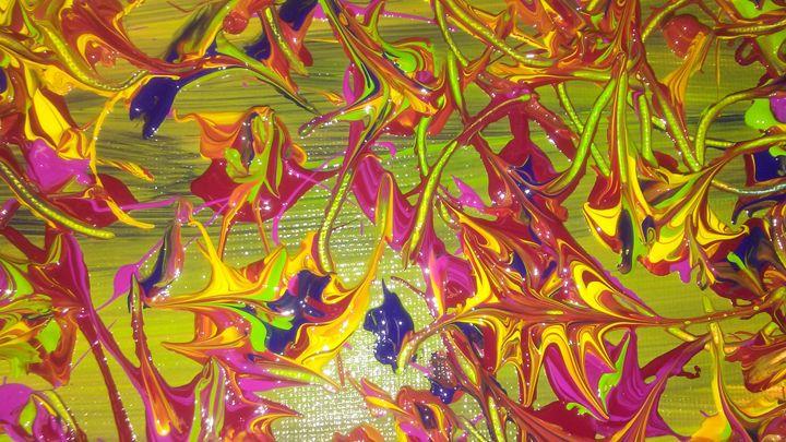 Illusional fish - Meditation abstract art painting