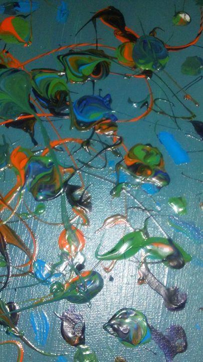 Fish creations - Meditation abstract art painting