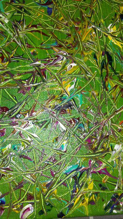 Chicken feet - Meditation abstract art painting