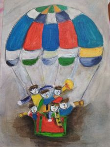Kids and the parachute