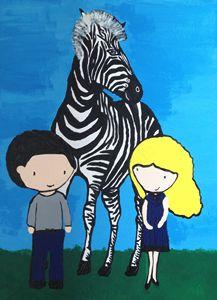 Waiting at zebra crossing