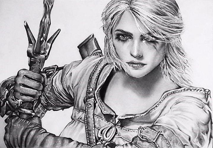 Ciri from The Witcher - Julie's art