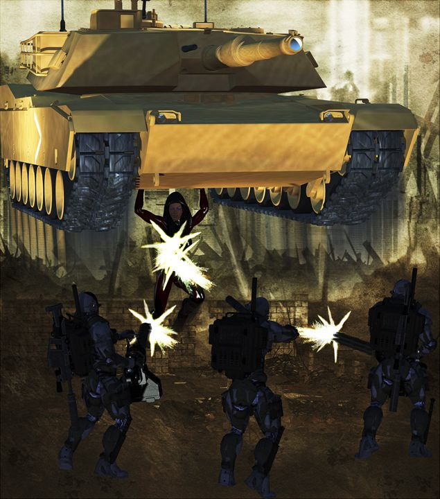 You idiots do know I'm hold a tank!! - EVO Universe