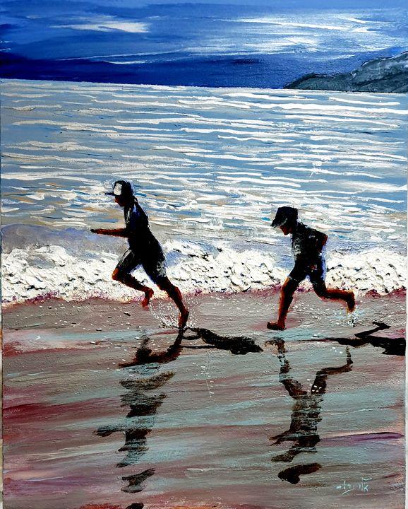 Me and my shadow love to run - Eli Gross Art