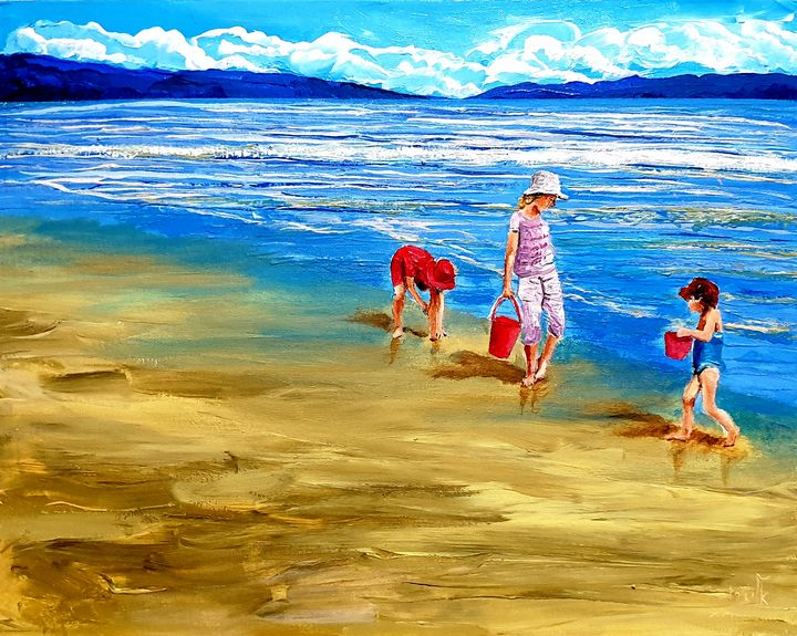 Children have their play - Eli Gross Art