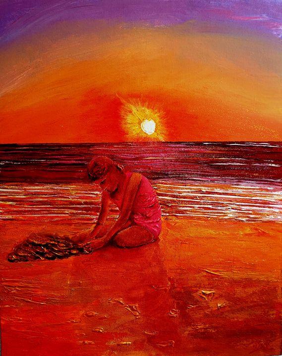 The last sun of the century - Eli Gross Art