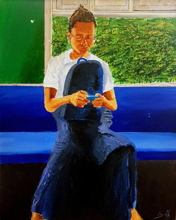 Myanmar - a typical slender type - Eli Gross Art