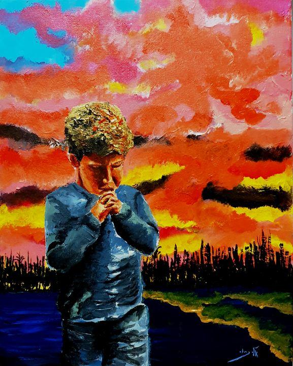 The Angelus - Acrylic - Eli Gross Art