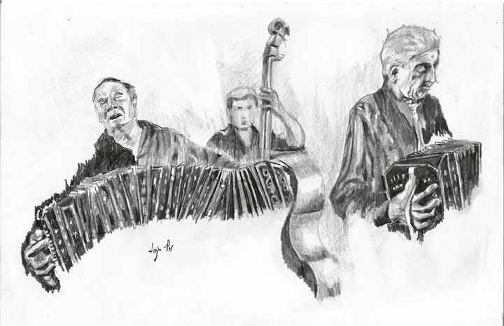 The Music band - Eli Gross Art