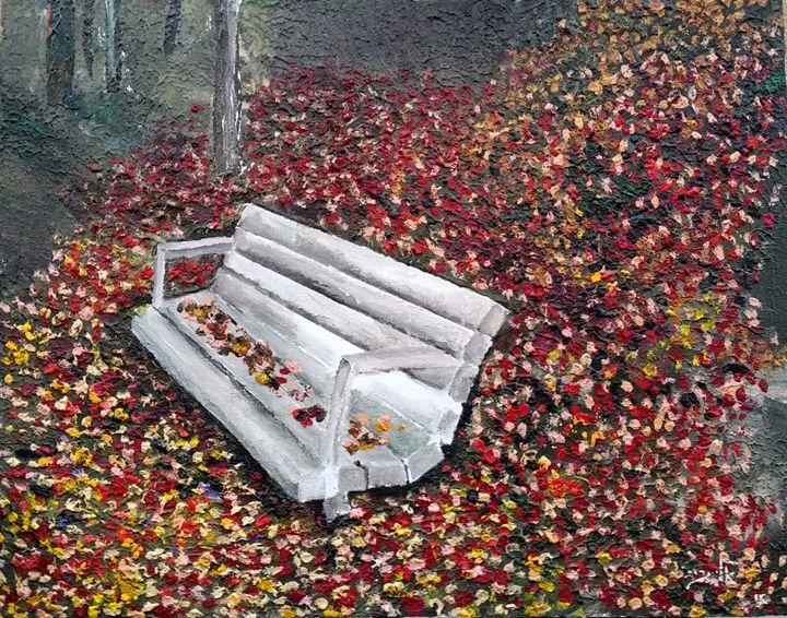 Autum solitude and the foliage - Eli Gross Art