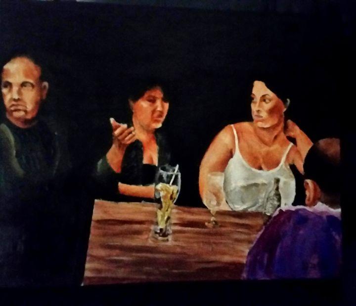 Night Bar - Eli Gross Art