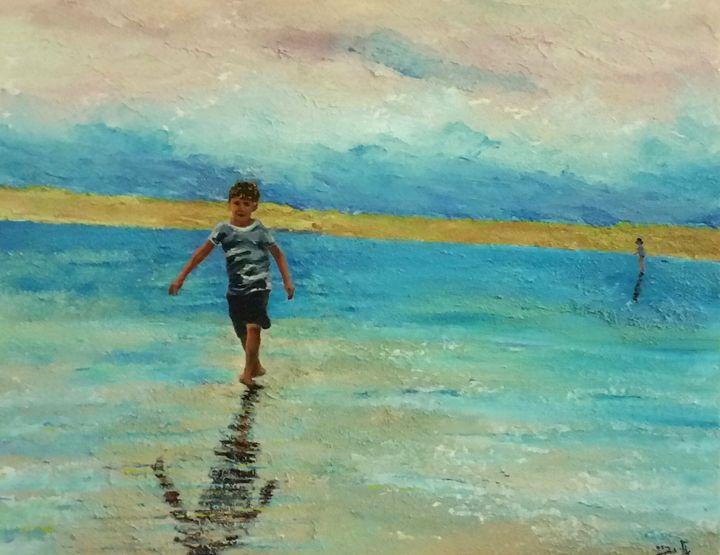 slip into the shallow water - Eli Gross Art