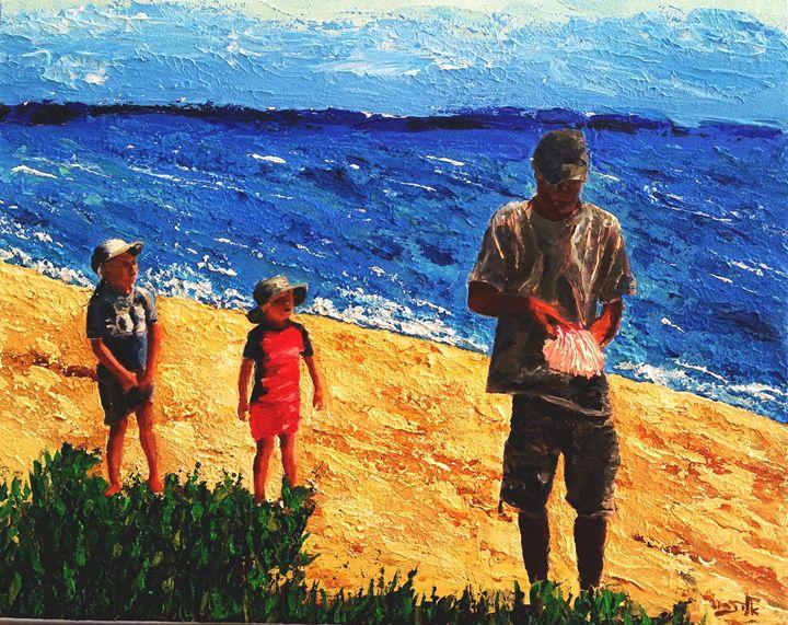 Children are curious, - Eli Gross Art
