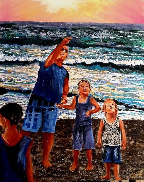 Kites fly - Eli Gross Art