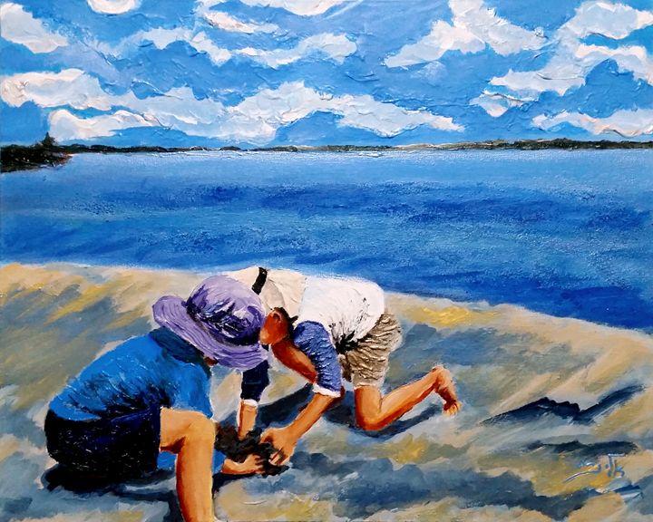 On the seashore - Eli Gross Art