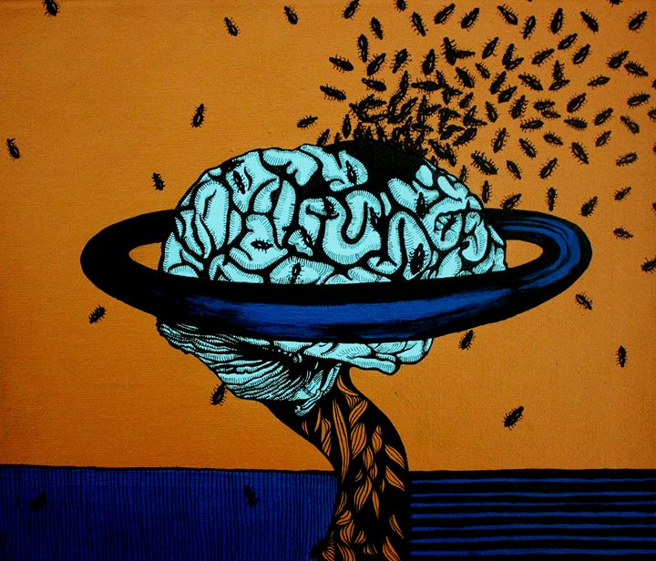 Brain with ants - Milca Milan