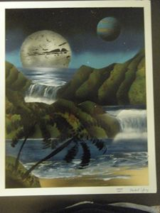 Moonlit Waterfalls
