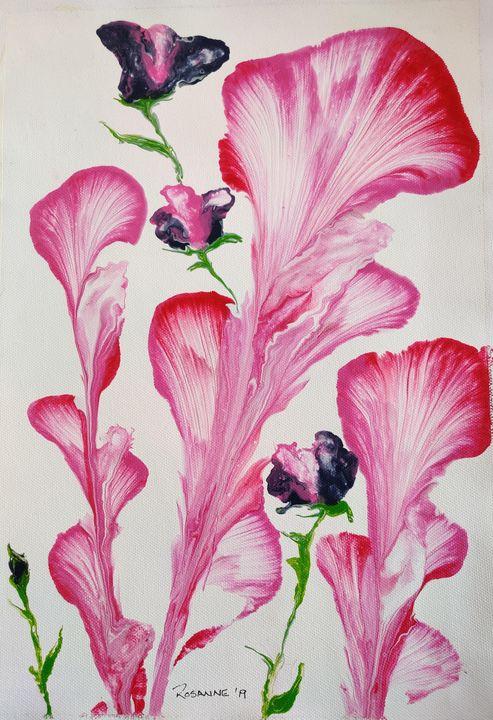 Abstract flowers - Rosanne's art