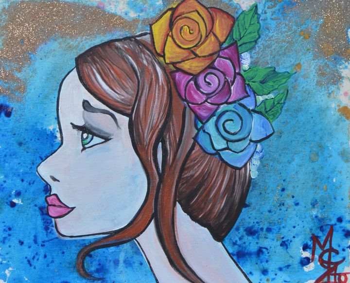 Flowers in her hair - Marigrace Zito