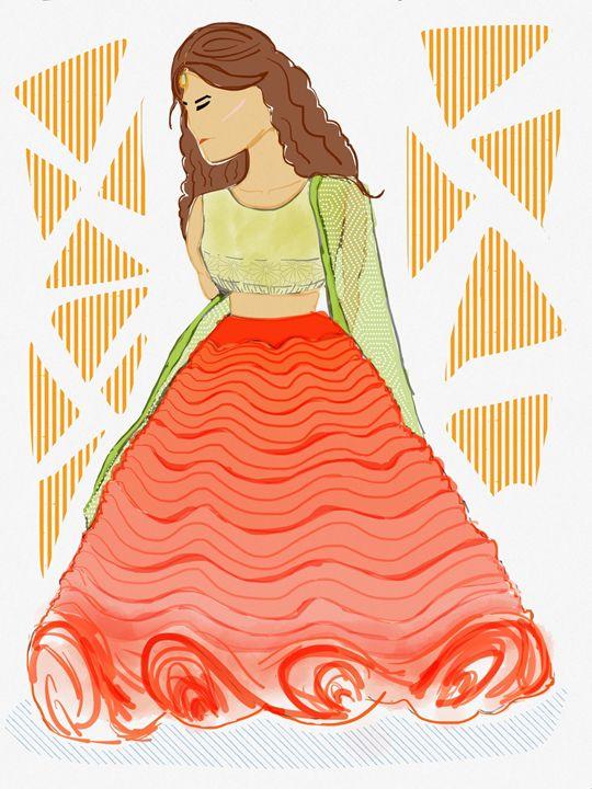 Skirt Sunset - Zuhaira Prints