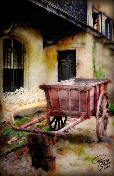 Pull Cart - Digital Art by Richard Smith