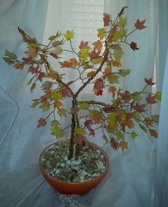 autumn tree wire sculpture
