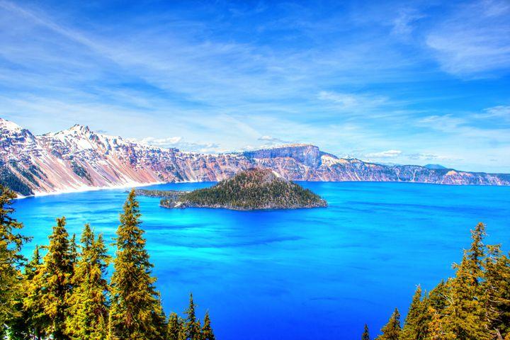 Scenic Crater lake - Aditon Art