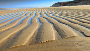 Sand Ripples At Low Tide