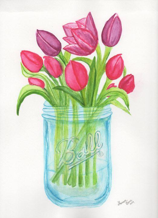 Tulips in a jar - Artfulzen