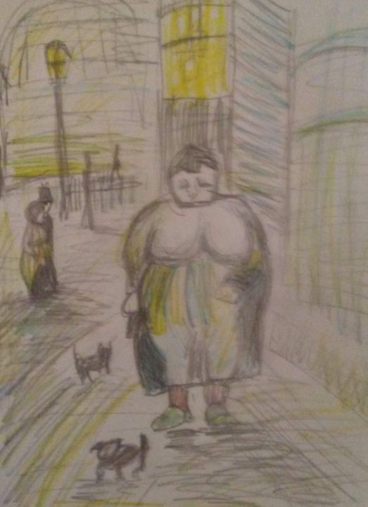 A woman walking her dog - ...Tosha ..