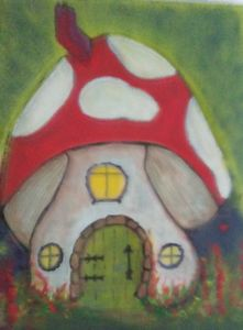 Magic mushroom fairy house