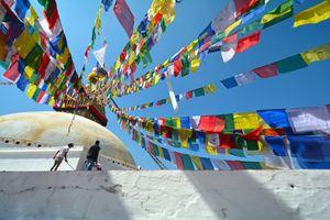 Pray Flags in Kathmandu