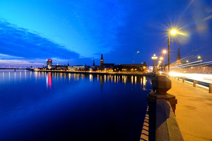 Night Skyline in Riga - Melnevsky