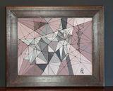 Acrylic on canvas, with frame