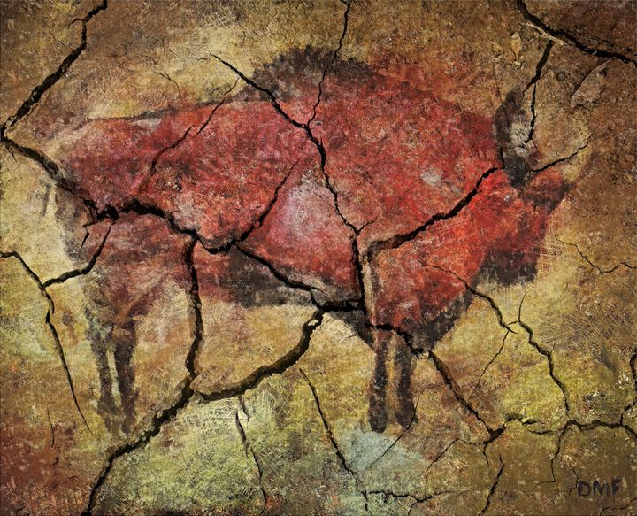 Bison -cave art - FORTUNA ART