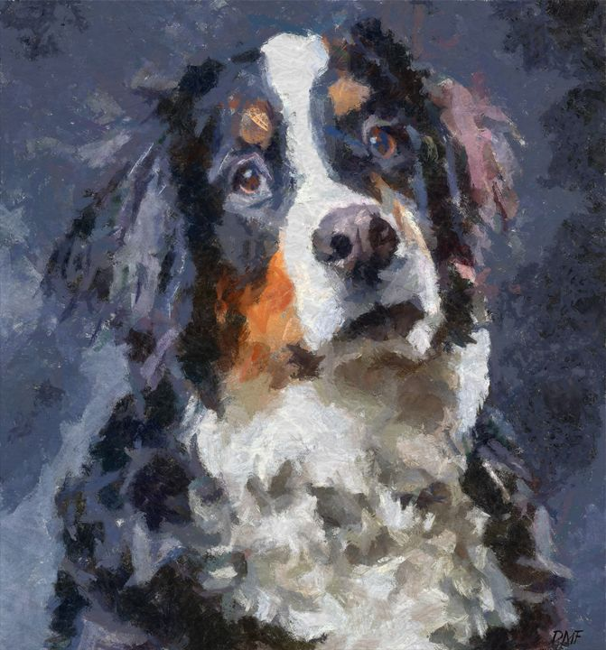 St Bernard dog - FORTUNA ART - Paintings & Prints, Animals, Birds