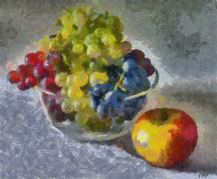 White, Rose and Red Grapes - FORTUNA ART