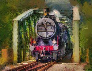 Old Steam Train - FORTUNA ART