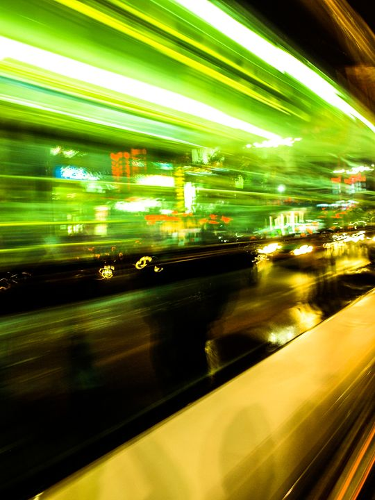 Bus Lights - The Art of Zach Duval