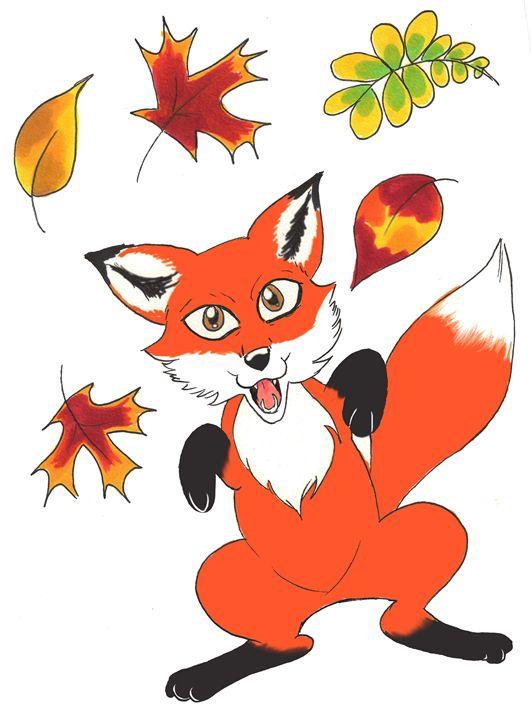 The Autumn Fox - Art By Marcina