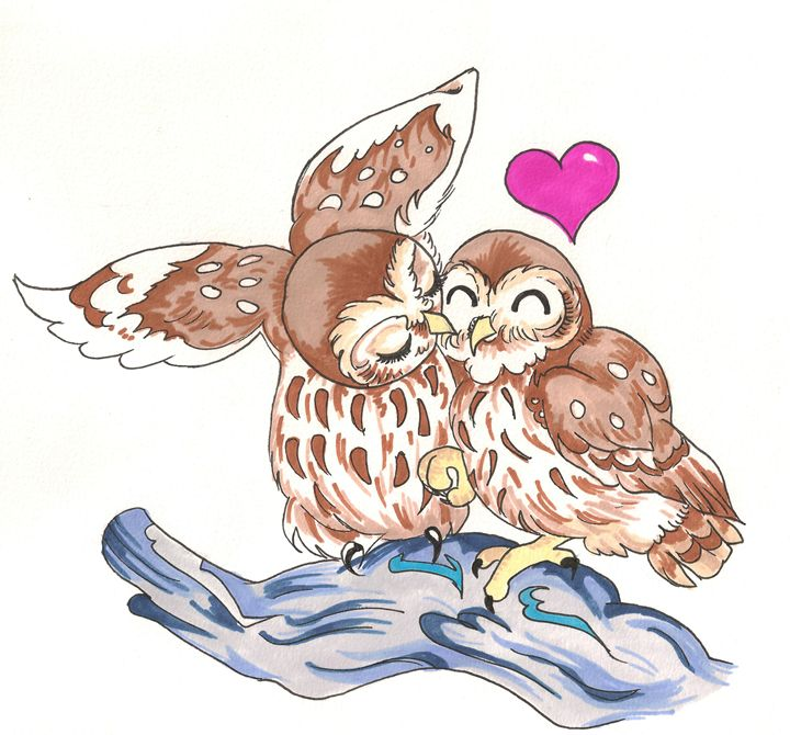 Love Owls - Art By Marcina