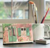 Watercolor mini-canvas