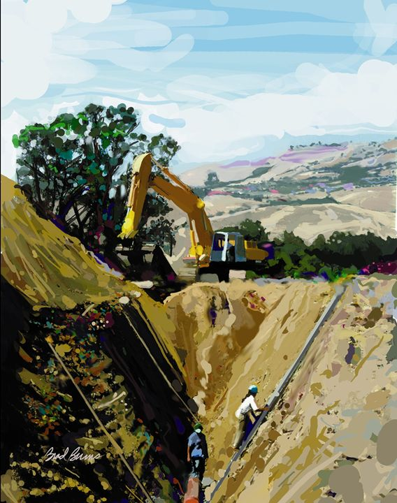 Deep Ditch - Construction Fine Art